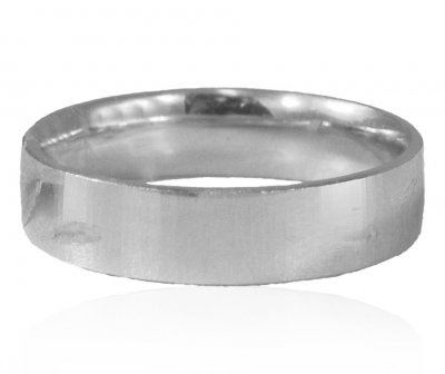 18Kt White Gold Designer Wedding Band ( Wedding Bands )