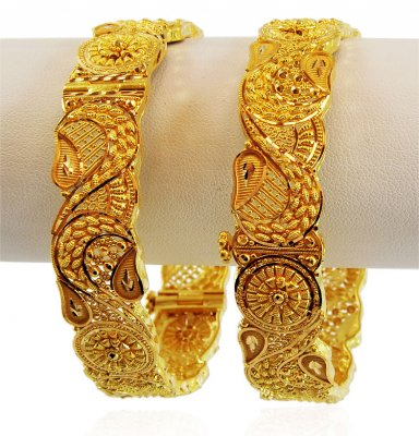 22K Gold Filigree Kada (1 PC) ( Kadas )
