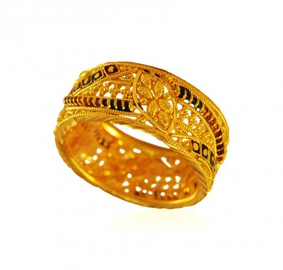 22karat Gold Filigree Band  ( Ladies Gold Ring )