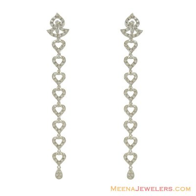 18k Long Exquisite Stones Earrings ( Exquisite Earrings )