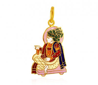 22Kt Gold Swaminarayanji  Pendant ( Ganesh, Laxmi and other God Pendants )