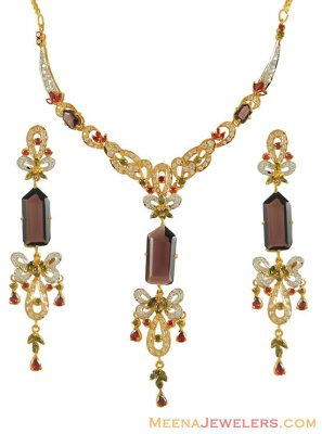 22k Gold Designer Set ( Precious Stone Sets )