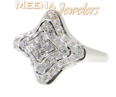 18K White Gold Ladies Ring ( Ladies White Gold Rings )