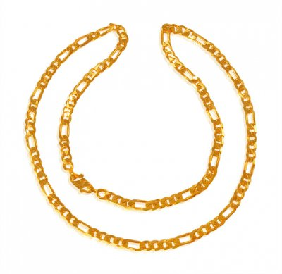 22 Kt Gold Figaro Chain ( Men`s Gold Chains )