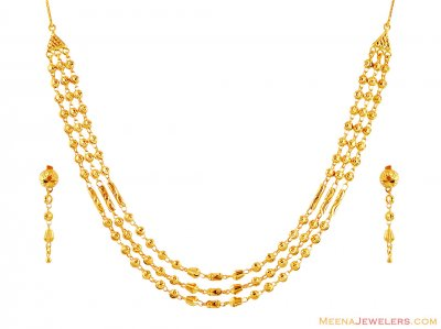 22k Gold Layered Set ( 22 Kt Gold Sets )