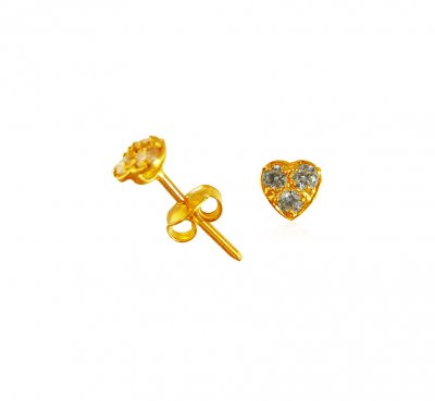 22k Gold Signity Baby Earrings ( Signity Earrings )