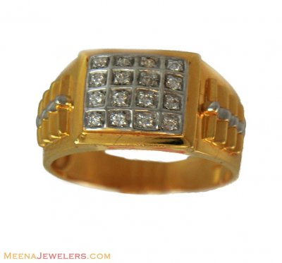 22k Fancy Signity Mens Ring ( Mens Gold Ring )