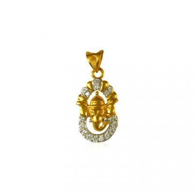 Ganesha Pendant with CZ ( Ganesh, Laxmi and other God Pendants )