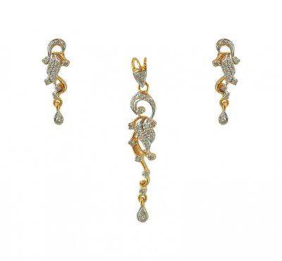 18K Gold Diamond Pendant Set ( Diamond Pendant Sets )
