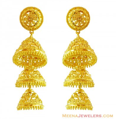 Alternate product for erfc14617 ( 22Kt Gold Fancy Earrings )