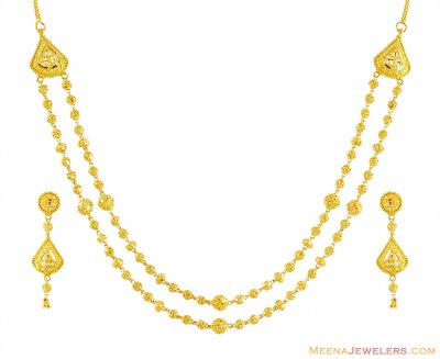 22k Exclusive Small Layered Set ( 22 Kt Gold Sets )