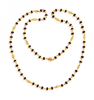 Gold Holy Tulsi Mala 26In ( 22Kt Long Chains (Ladies) )