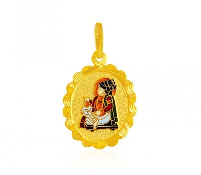 Swami Narayan Jee Pendant 22k ( Ganesh, Laxmi and other God Pendants )