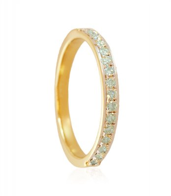 18K Two Tone Diamond Band ( Diamond Rings )