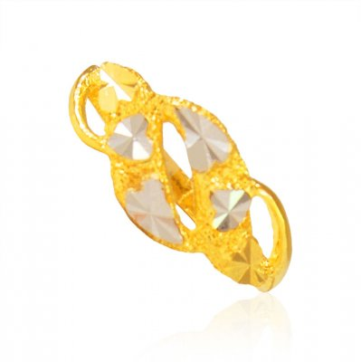 22K Yellow Two Tone Ladies Ring ( Ladies Gold Ring )