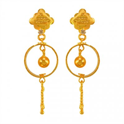 22Kt Gold Hoop Earrings ( Hoop Earrings )