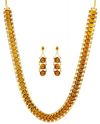 22 Karat Gold Coins Necklace Set ( 22 Kt Gold Sets )