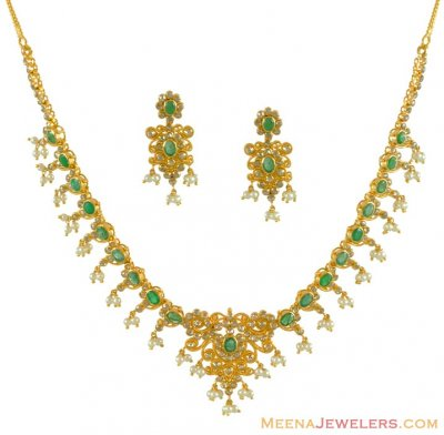 Gold Diamond Necklace Sets ( Diamond Necklace Sets )