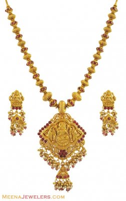 Gold Necklace Set (Temple Jewelry) ( Antique Necklace Sets )
