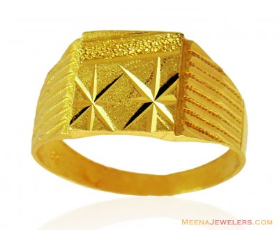 Indian Gold Fancy Ring ( Mens Gold Ring )