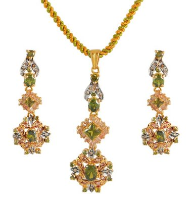 22K Antique Pendant Set ( Antique Pendant Sets )