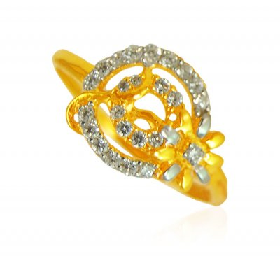 22K Fancy Ring ( Ladies Signity Rings )