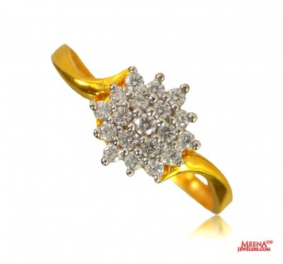 22K Beautiful Signity Ring ( Ladies Signity Rings )