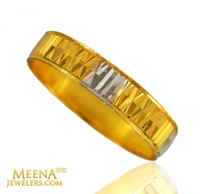22 Kt Gold Band in 2 Tone ( Wedding Bands )