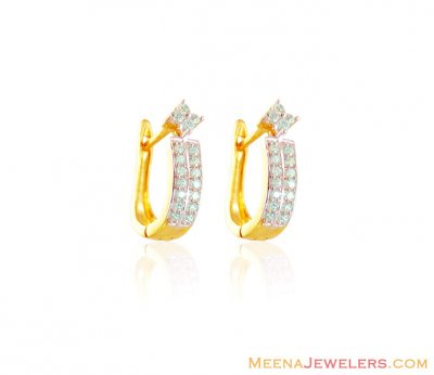 22k Signity Clip On Earring ( Clip On Earrings )