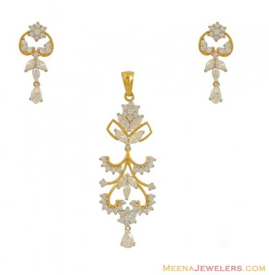 Signity Pendant Set ( 22K Gold ) ( Fancy Pendant Set )