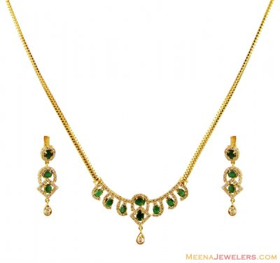 Light Diamond Necklace Set ( Diamond Necklace Sets )