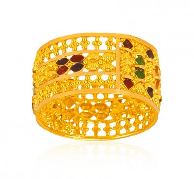 22k Gold Filigree Band  ( Ladies Gold Ring )