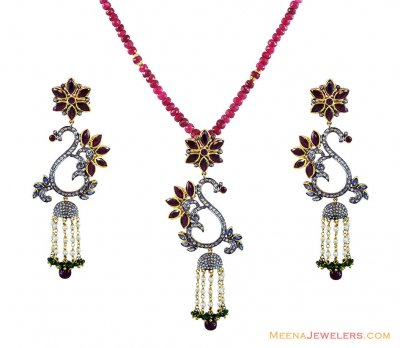 Victorian Pendant Set ( Diamond Victorian Jewelry )