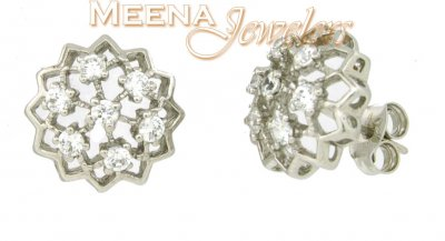 18Kt White Gold Earring ( White Gold Earrings )