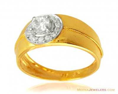 Mens 22K Gold Signity Ring ( Mens Signity Rings )