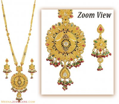 Indian Bridal Patta Haar (22k)  ( Bridal Necklace Sets )