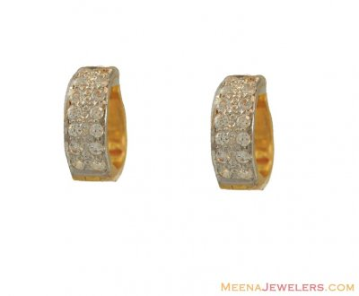 22K CZ Clip On Earrings ( Clip On Earrings )