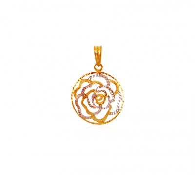 22K Gold Pendant in Two Tone ( Fancy Pendants )