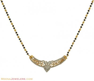 18K Two Tone Diamond Mangalsutra ( Diamond MangalSutras )