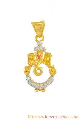 Lord Ganesha Pendant (22K) ( Ganesh, Laxmi and other God Pendants )