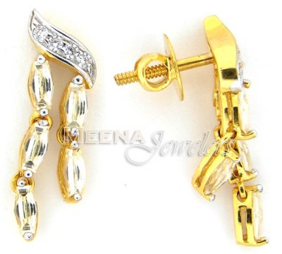 22 Kt Gold Signity Earrings ( Signity Earrings )