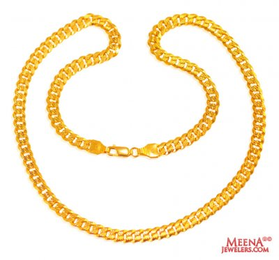 22 Kt Gold Mens Chain 20 In ( Men`s Gold Chains )