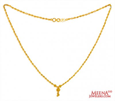 22 KT Yellow Gold Balls Chain ( 22Kt Gold Fancy Chains )