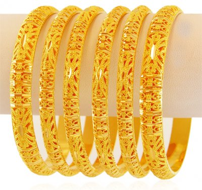 22K Gold Bangles Set  2 ( Set of Bangles )