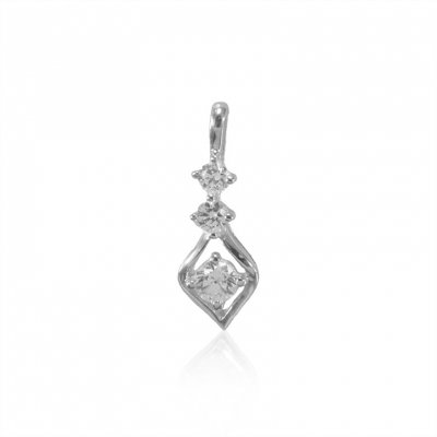 18K White Gold Fancy Pendant ( Fancy Pendants )