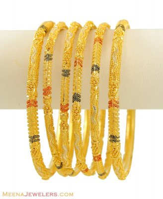 Indian Bangles Set (22K Gold) ( Set of Bangles )