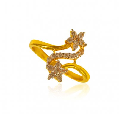 22K Gold Ladies Ring  ( Ladies Signity Rings )