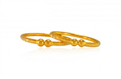 22Kt Gold Two tone Bangles for Kids ( Baby Bangles )