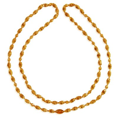 22K Gold White Tulsi Mala ( 22Kt Long Chains (Ladies) )