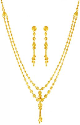22k Gold Double Layered  Set ( Light Sets )